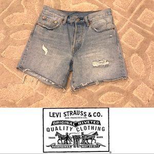 LEVI'S 501 Jean Shorts Distressed